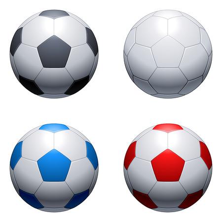 leather ball: Pelotas de f�tbol. Vectores