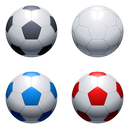 Soccer balls. Illustration