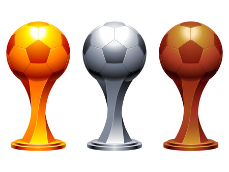 football trophy: Soccer trophy cups.