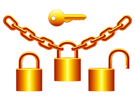 chain group: Padlocks set.