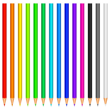 Colour pencils. Vector