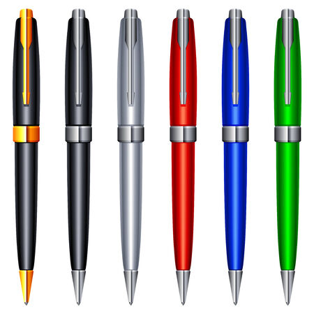 Colour pens. Stock Vector - 7128479