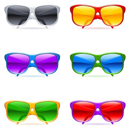 sunglasses: Conjunto de gafas de sol.