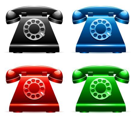 cable telefono: Retro de tel�fonos.