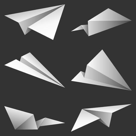 aerei: Aeroplani di carta.  Vettoriali
