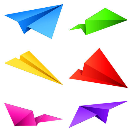 Paper airplanes. Stock Vector - 7713398