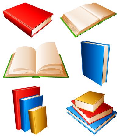 encyclopedias: Colecci�n de libros con color cubre.