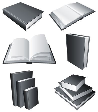 Books. Vector