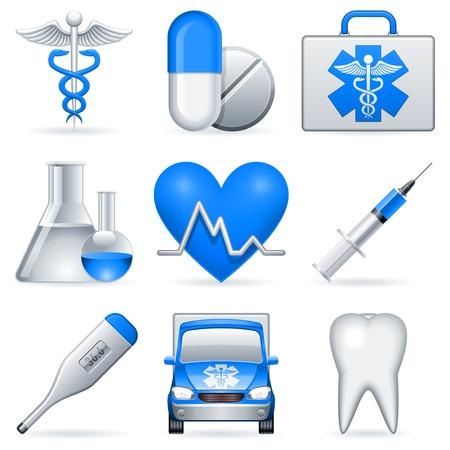 medical syringes: Icone di mediche.