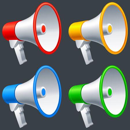 Megaphones. Stock Vector - 7813156