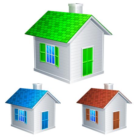 House icons. Illustration