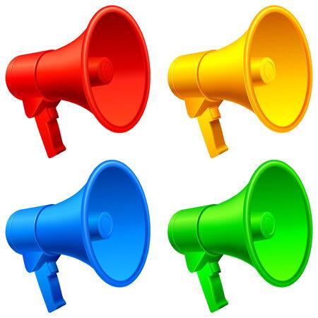 Megaphones. Stock Vector - 7814425