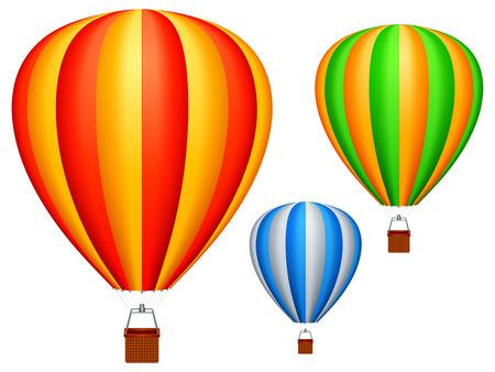 Hot air balloons. Illustration