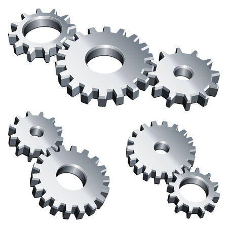 machine parts: Metal gears. Illustration