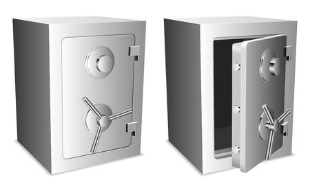 caja fuerte: Cajas de seguridad.  Vectores