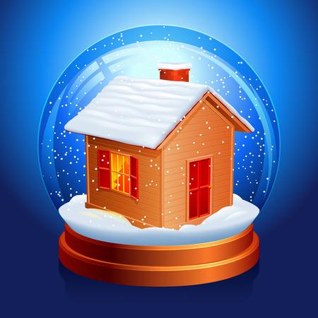 Snow globe. Stock Vector - 8231914