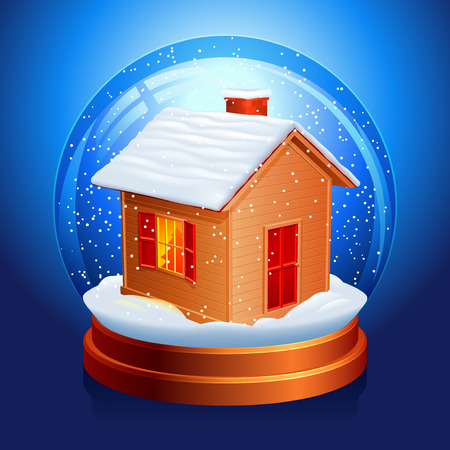 snowing: Snow globe. Illustration