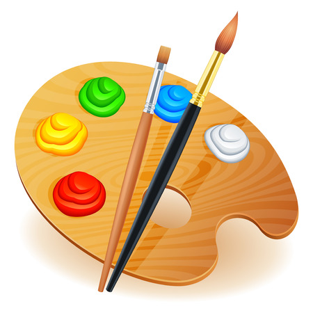 creativity artist: Paleta de arte.