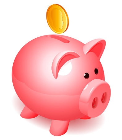 money box: Piggy bank.