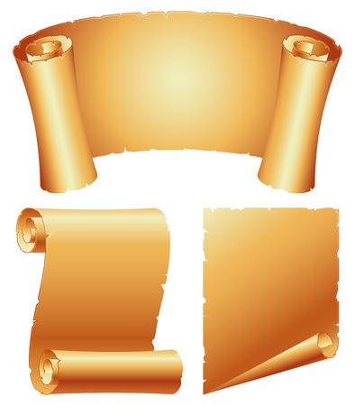 Paper scrolls. Stock Vector - 8760061