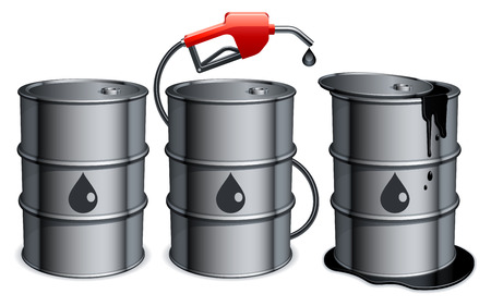 Oil barrels. Illustration
