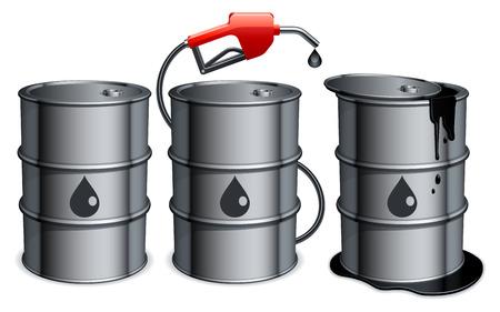 Oil barrels. Illustration