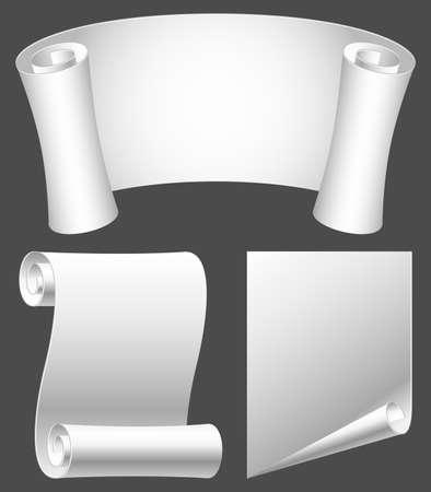 rolled scroll: Paper scrolls.