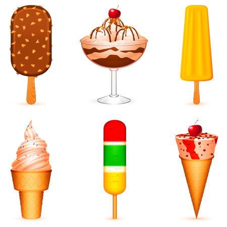 Ice cream. Vector