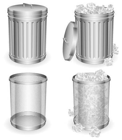 Trash cans. Stock Vector - 9099432