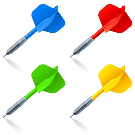 achievement clip art: Darts. Illustration