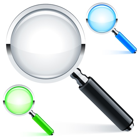 magnify glass: Magnifying glass.