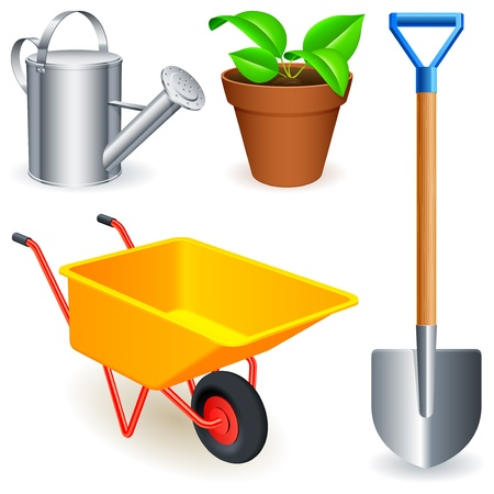 Garden tools. Stock Vector - 9595956