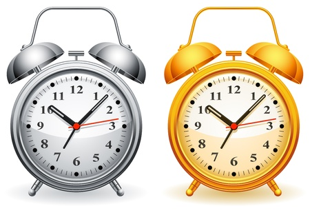 Alarm clock. Vector