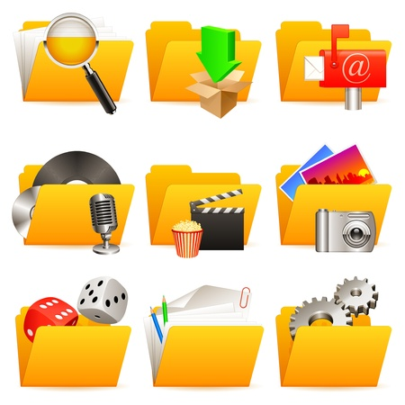 Folder icons. Stock Vector - 10046774