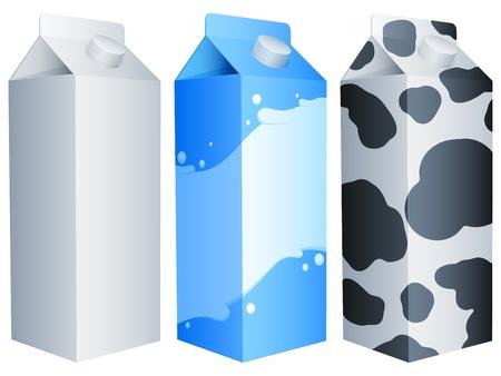 Three milk packs. Stock Vector - 10309823