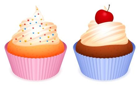baking cake: Cupcakes.