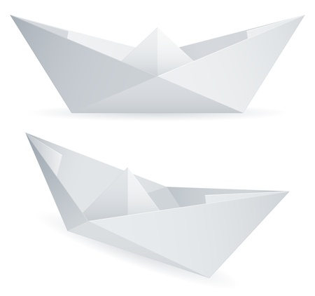 Paper ships. Vector