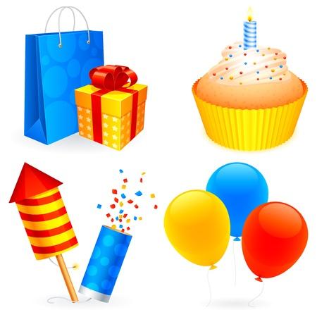 Birthday icons. Stock Vector - 10603271