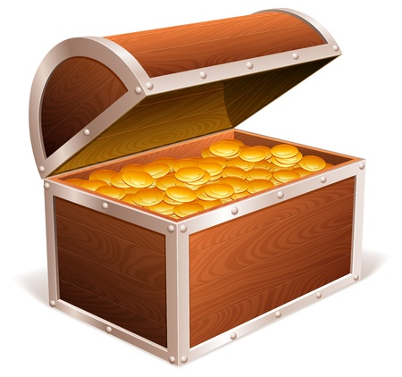 Treasure chest. Illustration