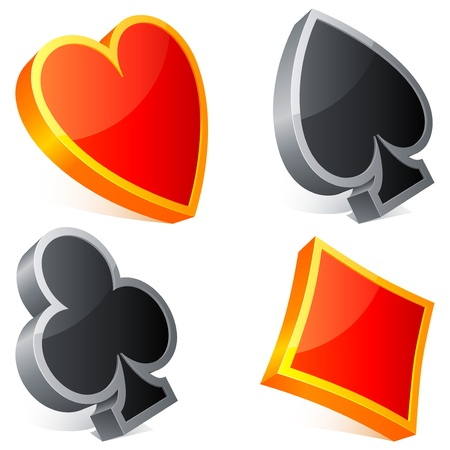playing card set symbols: Card suits.