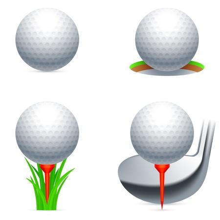 balle de golf: Ic�nes de golf. Illustration