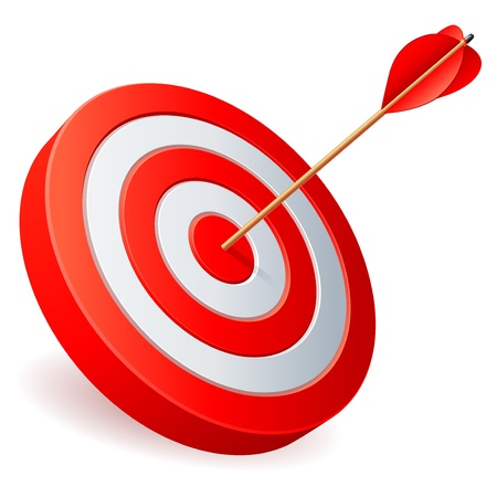 achievement clip art: Target with arrow.