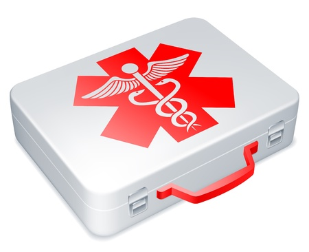 medical box: First aid kit.