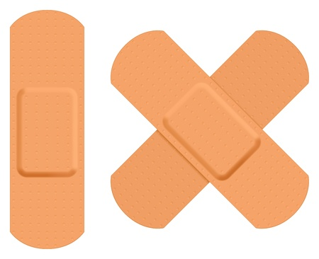 First aid plaster.   Vector