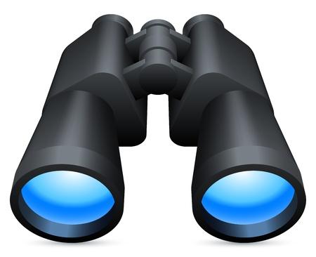 観察: 双眼鏡。  イラスト・ベクター素材