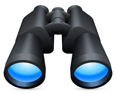 Binoculars. Illustration