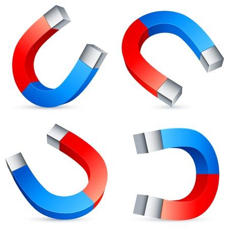 magnetismus: Hufeisen-Magneten.