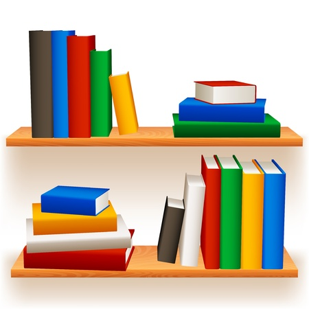 Bookshelves. Vector