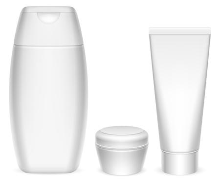 Cosmetics containers. Ilustração