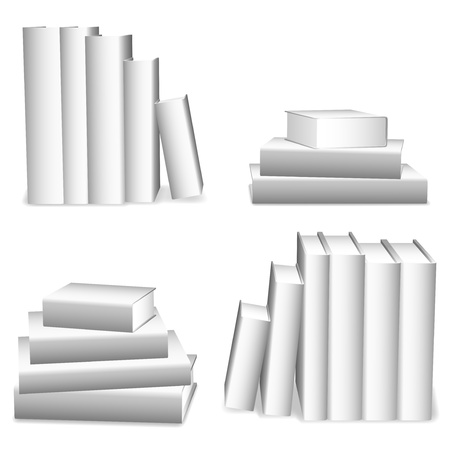 White books. Vector